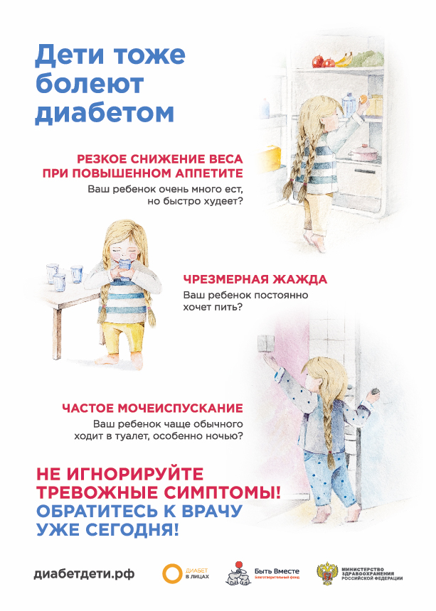 Не игнорируйте тревожные симптомы диабета у детей